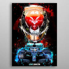Featuring a miniature fact file of the mercedes w11 with george's 63 number and the finishing race result. Lewis Hamilton F1 Poster Art Print By Micho Abstract Displate F1 Art Lewis Hamilton Poster Prints