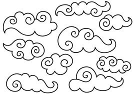 中国の雲像 無料 イラストダウンロード 高画質背景 イラスト フリー
