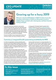 Canterbury DHB CEO Update - Monday 21 January 2019 by Canterbury ...