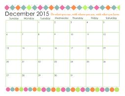 Second Chance To Dream 2015 Free Printable Calendar