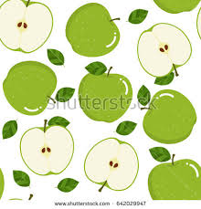 Apple Pattern Simple Green Apple Pattern Stock Vector Royalty Free 48 Shutterstock