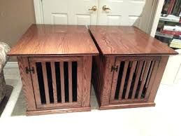 wooden dog crate furniture. Double Dog Crate Furniture Kennel Amazing Table And Do . Wooden A