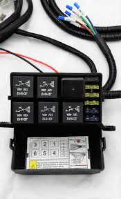 6 circuit universal fuse and relay panel led lights led light how to install flex led lights in car at How To Hook Up Led Lights To Fuse Box