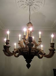 outstanding carved limewood georgian style chandelier