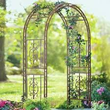 Small Picture Garden Metal Arch Arbor 84 Pathway Trellis Wedding Decor Wrought