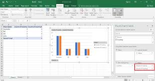 Pivot Table Chart Excel 2016 Excel 2016 How To Have Pivot Chart Show Only Some Columns