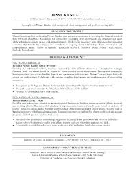 Personal Resume Custom Private Banking Resume Sample Banker Mortgage Example Breathelightco