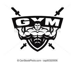 Gym Monochrome Logo Emblem