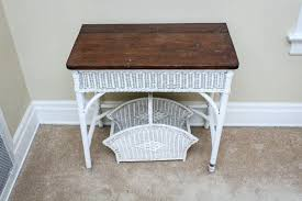 white wicker side table white wicker side table desk and holder mainstays wicker coffee table