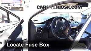 interior fuse box location lexus nxt lexus locate interior fuse box and remove cover