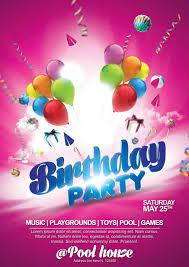Birthday Flyers 18 Birthday Party Flyers Psd Word Ai Eps Vector