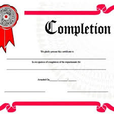 Free Printable Certificates Of Completion Template Sample Vector ...