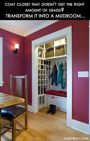 amazing easy diy home decor ideas closet to mudroom dump a day