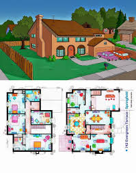 floor plans homes from famous shows house plan lego simpson pics the evergreen terrace springfield this print layout simp