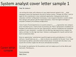System Analyst Cover Letter System Analyst Cover Letter