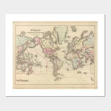 World Map Posters Vintage Map Of The World 1884