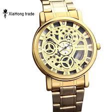 aliexpress com buy 2016 cheap watch gold men steel strip hollow 2016 cheap watch gold men steel strip hollow quartz watch nice watch brands strap skeleton