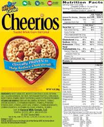 cheerios nutrition info