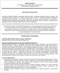 Resume Templates For Administrative Positions Impressive 44 Administrative Assistant Resume Templates PDF DOC Free