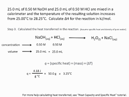 using calorimetry to calculate enthalpies of reaction chemistry tutorial you