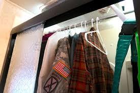 closet shower rack rv