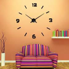 mirror clocks on wall 3d wall sticker mirror clock diy home decor large wall mounted clock