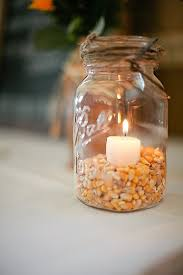 Fall Table Decorations With Mason Jars Vase Table Centerpiece Ideas Mason Jars Candles Fall Wedding 19