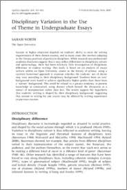 disciplinary variation in the use of theme in undergraduate essays  disciplinary variation in the use of theme in undergraduate essays