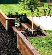 garden wall ideas wooden build a retaining walls landscaping brick small front gar