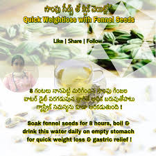 quick weight loss with fennel seeds