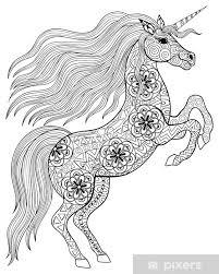 Carta Da Parati Disegno A Mano Magia Unicorn Per Adulti Antistress