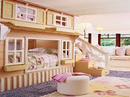 Even thought we have the space, I like the idea of my 2 small girls sharing  a room. I would have DIED for this bunk bed when I was a little girl.