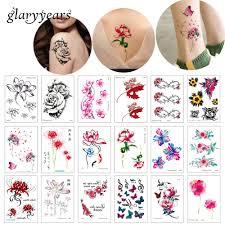 15105 см Glaryyears 24 дизайна 1 лист татуировка в форме цветка Sc