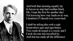 essay on the road not taken by robert frost the road not taken the  the road not taken by robert frost poem text