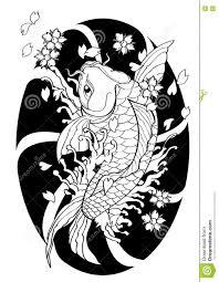 стиль татуировки рыб Koi японский выровнял притяжку картины