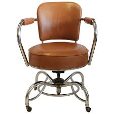 leather home office desk chair furniture white ergonomic special stylish art deco and chrome orange chairs
