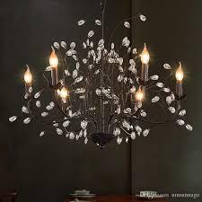 modern crystal chandeliers american industrial retro vintage chandelier light fixture hanging pendant lamps home indoor lighting droplight outdoor