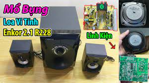 tachaba.com - Bung Loa Vi Tính Enkor 2.1 R228, xem Bo Mạch và Củ Loa có  chất lượng không ?