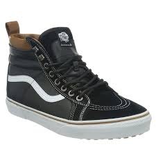 vans sk8 hi black true white mens suede leather hi top skate scotchgard trainers men s shoes