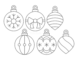 Christmas ornaments coloring page from christmas decoration category. Printable Christmas Ornaments Coloring Pages And Templates