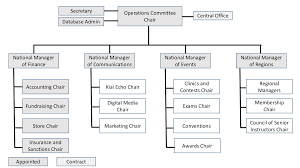Organization And Communication Chart The American Judo And