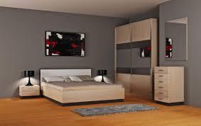 bedroom furniture colors. Minimalist Bedroom Design Ideas Black Modern Table Lamp Gray Wall Paint Colors Queen Size Platform Beige Furniture 2