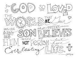 john 3:16 coloring page | Item Details Shop Policies | sunday ...