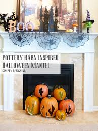 Pottery Barn Inspired Halloween Mantel | #spookyspaces #pumpkins  #pumpkincarving #halloween #funkins