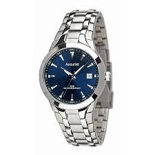 accurist men s round blue dial watch h samuel accurist men s round blue dial watch product number 8191212