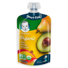 Gerber® 2nd Foods® 3.5 oz. <b>Smart Flow Organic</b> Pear Mango ...