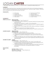 Entry Level Sales Associate Resumes Entry Level Retail Resume Skinalluremedspa Com