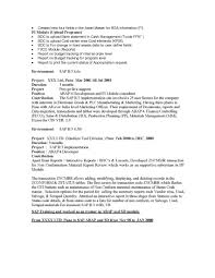 Sap Crm Functional Resume Sample Sidemcicek Com