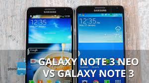 Samsung Galaxy Note 3 Neo vs Note 3 ...