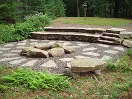 stone fire pit fire pit with broken stone
